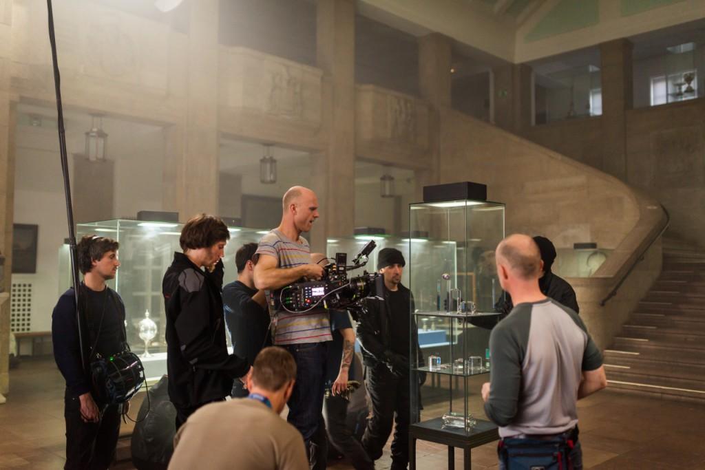 Filmcrew bei der Arbeit